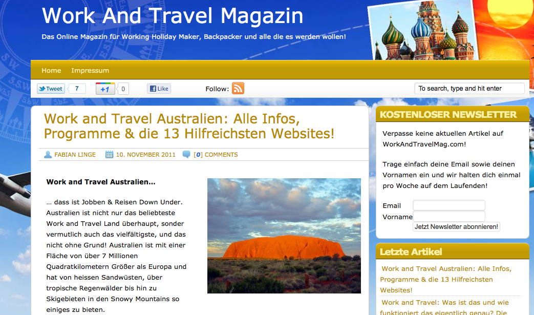 Work and Travel Magazin