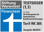 HanseMerkur Testsieger Stiftung Warentest Auslandskrankenversicherung
