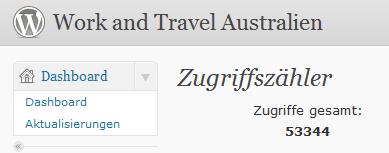 Besucherzahlen von Work-and-Travel-Australien.com